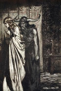 O wife betrayed I will avenge they trust deceived!', 1924 by Arthur Rackham