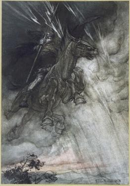 Odin, Wotan Rides, Rackham by Arthur Rackham