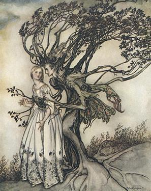 Old Woman in the Wood by Arthur Rackham