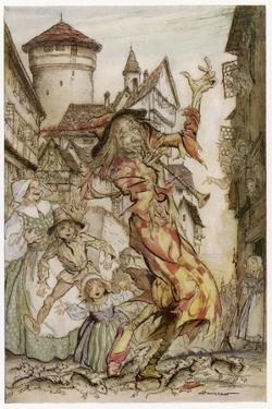 Pied Piper, Rats by Arthur Rackham