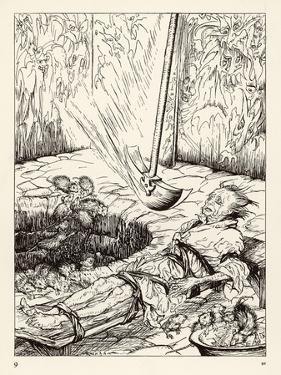 Pit and the Pendulum by Arthur Rackham