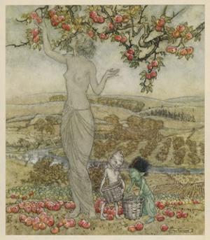 Pomona, Roman Goddess of Fruitful Abundance by Arthur Rackham