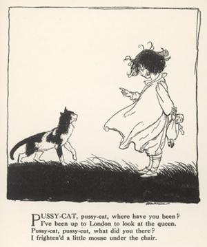Pussy Cat, Pussy Cat by Arthur Rackham