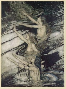 Rhinemaidens by Arthur Rackham