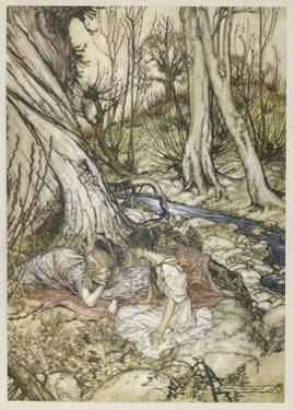 S, Speare: Hermia and Helen by Arthur Rackham