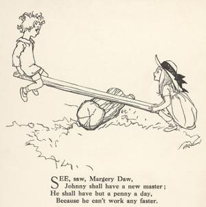 See Saw Margery Daw by Arthur Rackham