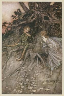 Shakespeare, Puck, Fairy by Arthur Rackham