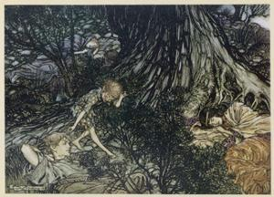 Shakespeare, Puck by Arthur Rackham