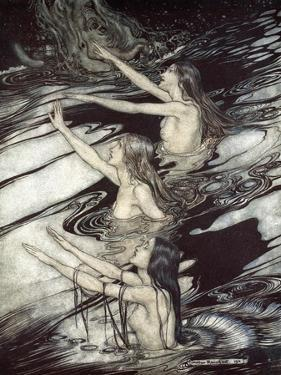 Siegfried! Siegfried! Our warning is true: flee, oh flee from the curse!', 1924 by Arthur Rackham