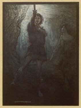 Siegmund and Nothing by Arthur Rackham