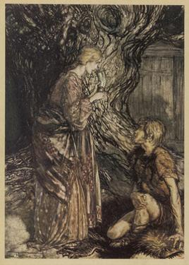 Siegmund and Sieglinde by Arthur Rackham