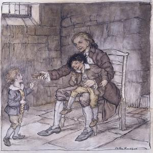 Sir William Thornhill ('Mr Burchell') Recognised by Bill and Dick by Arthur Rackham
