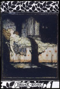 Sleeping Beauty aka Briar Rose Asleep by Arthur Rackham