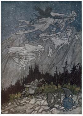 Spirits of the Catskill Mountains by Arthur Rackham
