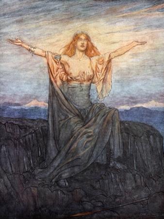 Sun, I hail thee! Hail, O light! Hail, O glorious day!', 1924 by Arthur Rackham