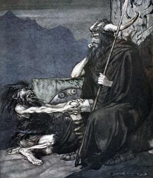 Swear to me, Hagen, my son!', 1924 by Arthur Rackham
