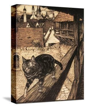 The Cat and Mouse in Partnership by Arthur Rackham