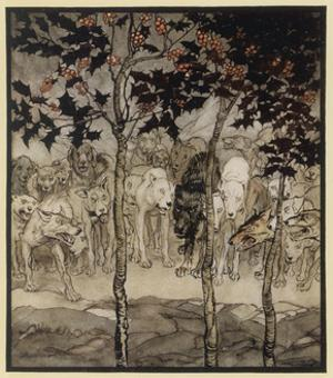 The Enchanted Cave by Arthur Rackham
