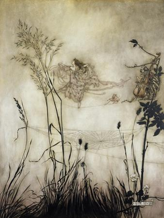 The Fairies are Exquisite Dancers, Illustration in 'Peter Pan in Kensington Gardens' by J.M Barrie by Arthur Rackham