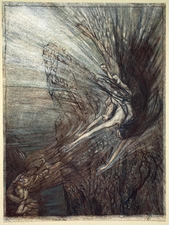 The frolic of the Rhine-Maidens', 1910 by Arthur Rackham