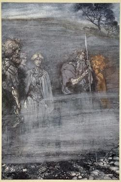 The Gods grow wan and aged at the loss of Freia', 1910 by Arthur Rackham