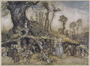 The Little Folk's Market by Arthur Rackham