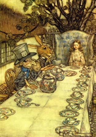 The Mad Tea Party by Arthur Rackham