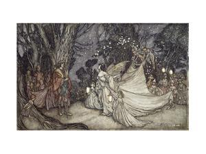 The Meeting of Oberon and Titania by Arthur Rackham