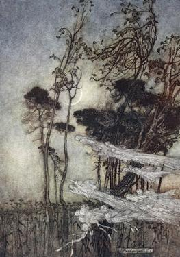 ..The Moon, Like to a Silver Bow New-Bent in Heaven by Arthur Rackham