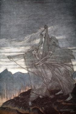The Norns vanish', 1924 by Arthur Rackham