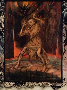 'The Pit and the Pendulum' by Edgar Allan Poe by Arthur Rackham