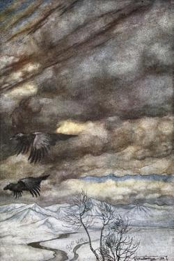 The ravens of Wotan', 1924 by Arthur Rackham