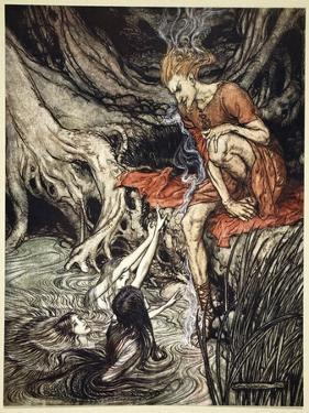 The Rhine's pure gleaming children told me of their sorrow', 1910 by Arthur Rackham