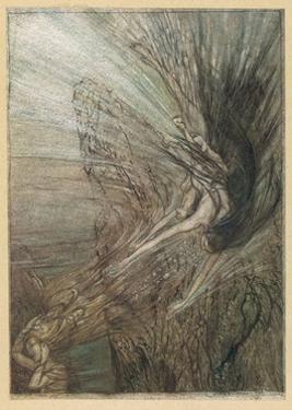 The Rhinemaidens by Arthur Rackham
