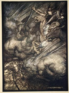 The ride of the Valkyries', 1910 by Arthur Rackham