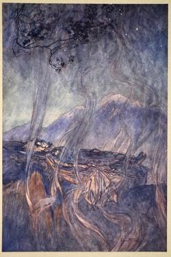 The sleep of Brunnhilde', 1910 by Arthur Rackham