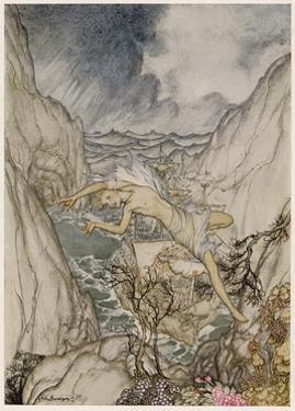 The Tempest, Ariel by Arthur Rackham