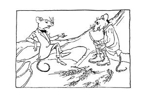 The Town Mouse and the Country Mouse, 1912 by Arthur Rackham