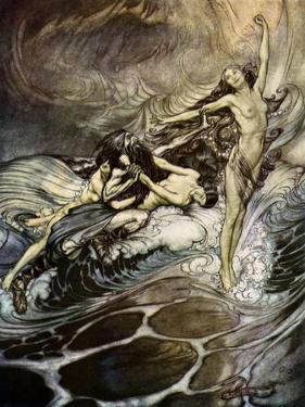 The Twilight of the Gods / Göttterdämmerung by Arthur Rackham