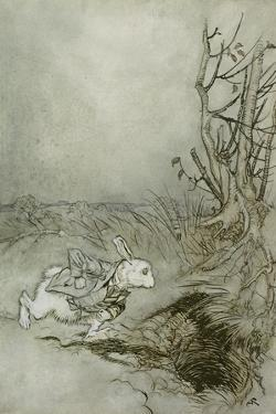 The White Rabbit from 'Alice's Adventures in Wonderland', 1907 (Pen, Ink and W/C on Paper) by Arthur Rackham