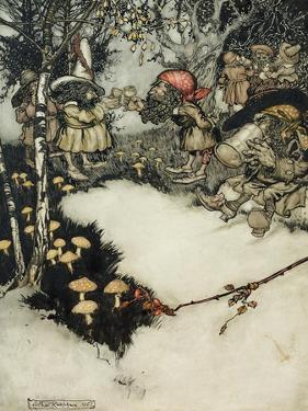 They Quaffed their Liquor in Profound Silence, 1905 by Arthur Rackham