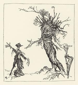 Tree Talks to Scarecrow by Arthur Rackham