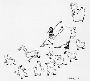 Ugly Duckling 1 by Arthur Rackham