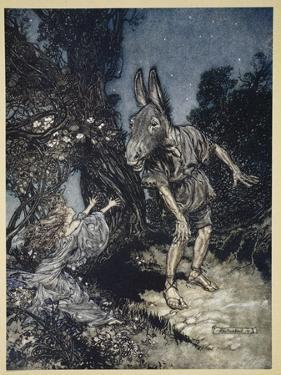 What Angel Wakes Me from My Flowery Bed? by Arthur Rackham