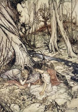 ..Where Often You and I Upon Faint Primrose-Beds Were Wont to Lie by Arthur Rackham