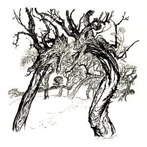'Whispering Trees, From 'A Dish of Apples', 1917, (1923) by Arthur Rackham