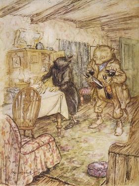 Willows, Rat and Beer by Arthur Rackham