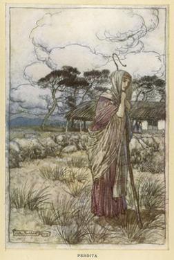 Winters Tale - Perdita by Arthur Rackham