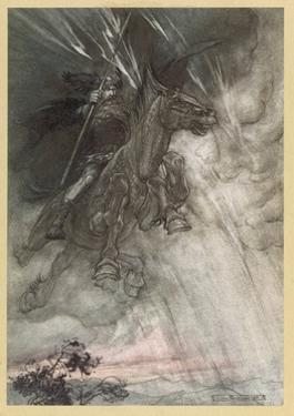 Wotan Rides to Rock by Arthur Rackham