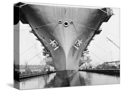 Bow of the USS Saratoga Warship